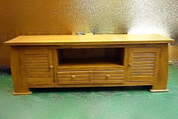 連冠二手家具 A1882 庫存柚木實木電視櫃 矮櫃 電視平台 TV櫃 收納櫃