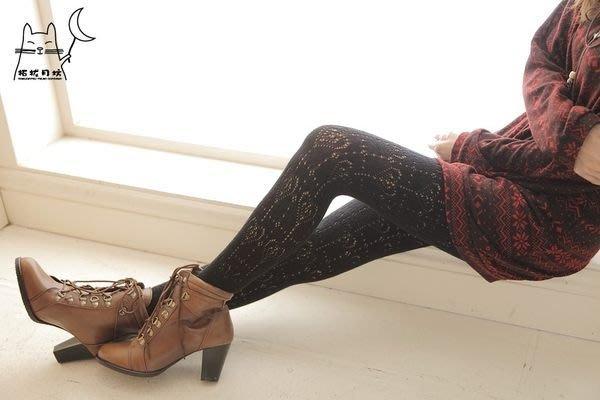 【拓拔月坊】日本製 MORE 森林女孩 洞洞 雙層愛心 混羊毛褲襪 秋冬款~現貨!
