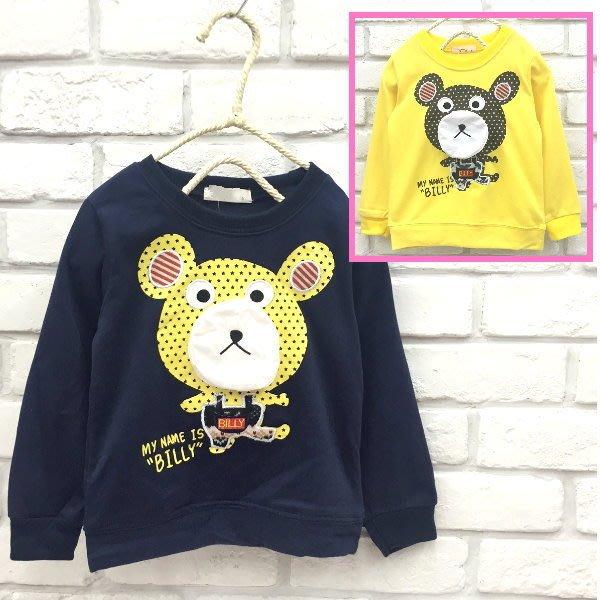 【班比納精品童裝】彈力星星小熊棉T-藍【BB160216024】