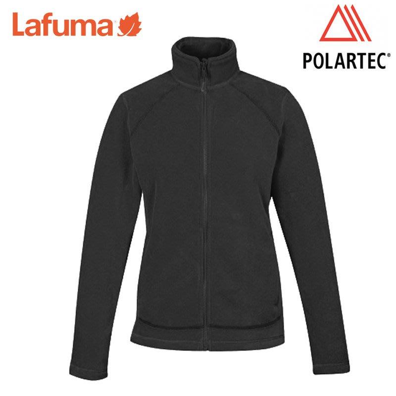 丹大戶外【Lafuma】法國女款Polartec200保暖刷毛立領外套/絨毛高領罩衫LFV10273-0247黑