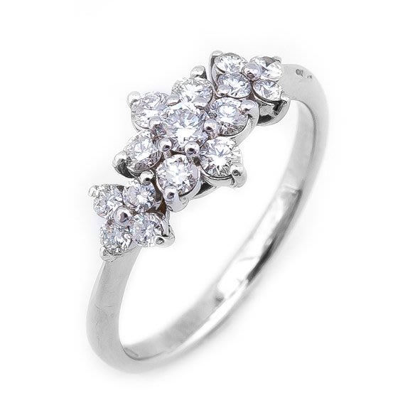 【JHT 金宏總珠寶/GIA鑽石專賣】0.56ct天然鑽石造型戒指/材質:18K(D000196)