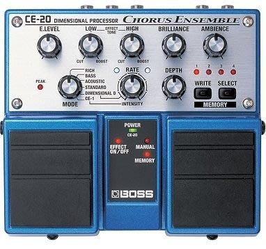 【六絃樂器】全新 Boss CE-20 Chorus Ensemble 終極和聲雙踏板效果器 / 現貨特價