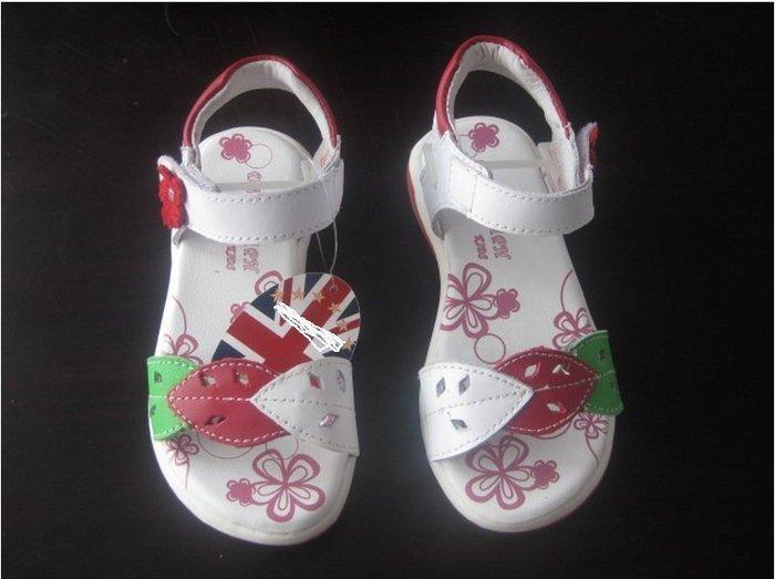 ~~小天使 童鞋~~美國品牌真皮系列 珍藏版精美落葉款兒童涼鞋28號
