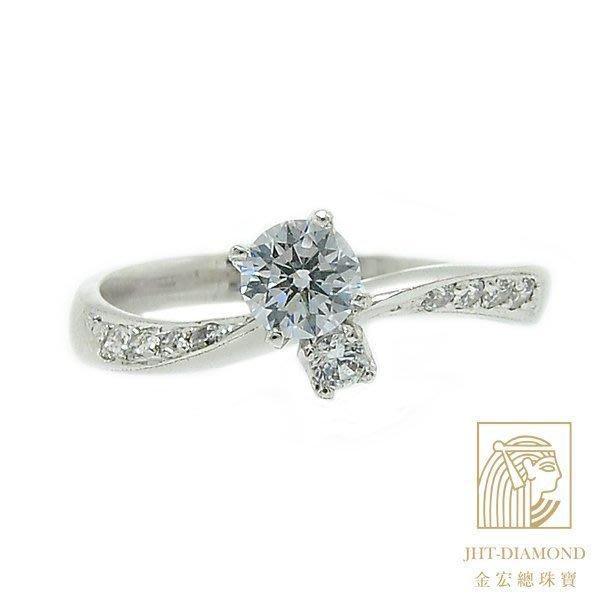 【JHT 金宏總珠寶/GIA專賣】婚戒/鑽戒 女鑽石戒台 (不含搭配主鑽)JRM080