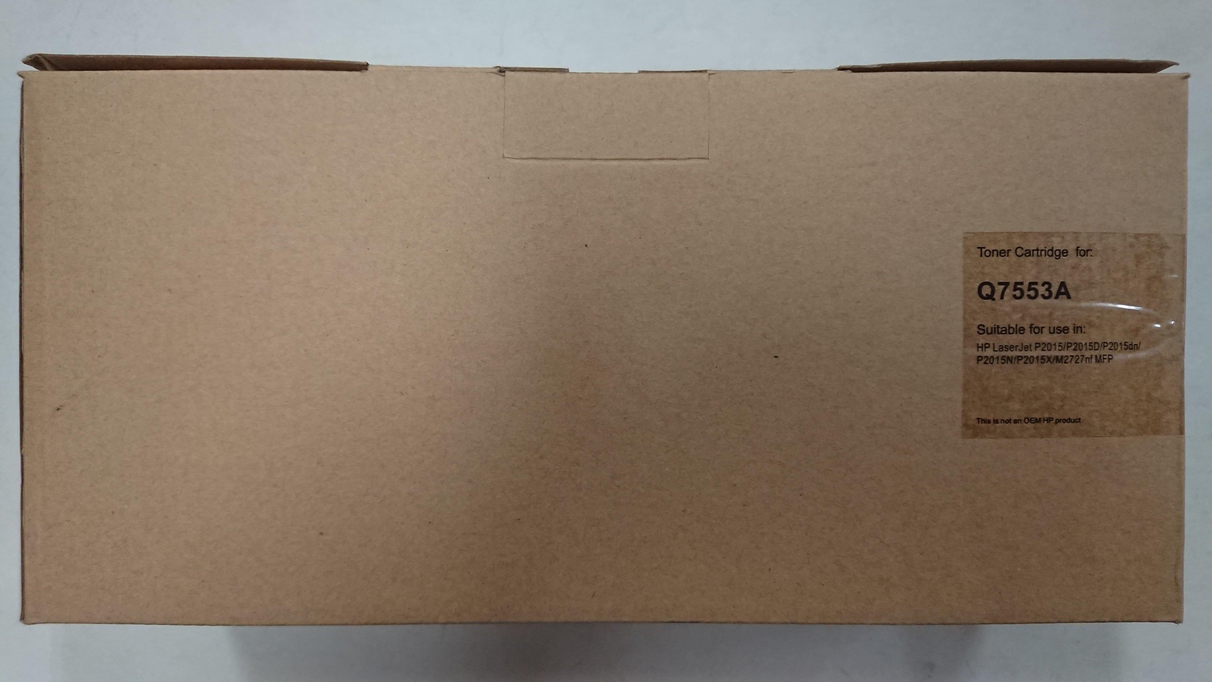 HP Q7553A 原廠黑色碳粉夾 牛皮色紙盒包裝