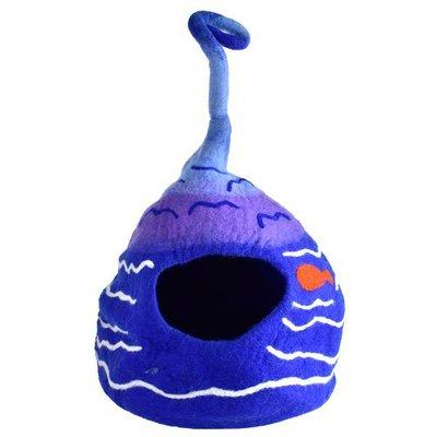 【寵物王國-貓館】Gatto Casa手工羊毛氈貓窩/克利金魚50cm,加贈紐崔克貓魚排點心x3個