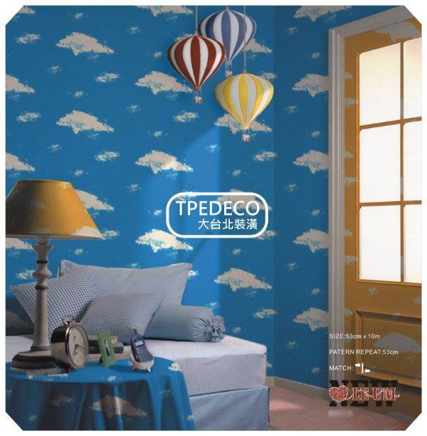 【大台北裝潢】OM國產現貨壁紙* 藍天白雲 每支280元