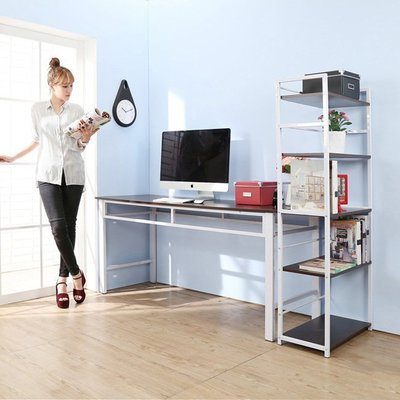 臥室/辦公室【家具先生】超穩固耐用加長160公分工作桌附五層置物書架公文櫃收納櫃 I-FY-DE1662+SH6314