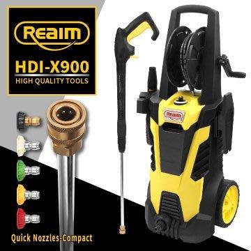 【Reaim萊姆直營】萊姆高壓清洗機 HDI-X900 感應式馬達 長段槍全配組 汽車美容 洗車機 清掃 青苔 0455