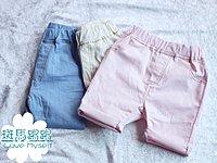 斑馬踢踢童裝~~新品促銷~~粉色追貨到~~ 男童女童 百搭休閒短褲(粉)(白)(藍)5~17號