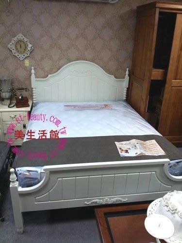 美生活館---新古典白色浪漫風格-- 蘿菈 立體雕刻 五尺床--民宿 自宅