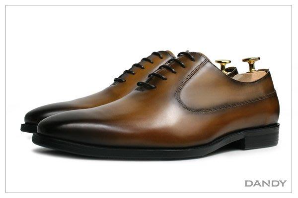 ├ DANDY ┤真皮燻舊紳士皮鞋 ‧ 2018新款手工仿舊棕色HX286-500