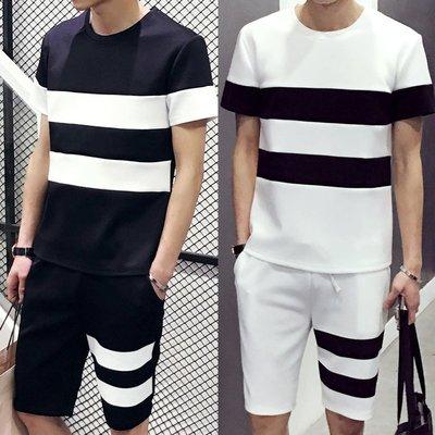 Mr.K - 時尚 黑白色系 條紋 字母印花上衣  四款 ,兩入1000 直條槓 立體字 斷貨。