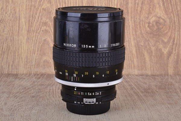 【台中品光攝影】 Nikon Nikkor AI 135mm F2 135/2 人像 定焦 大光圈 手動鏡 內建遮光罩 #23748J