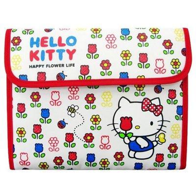 尼德斯Nydus~* 日本正版 三麗鷗 凱蒂貓  kitty 零錢包 證件夾 護照套 多用途 手拿包 手帳 小花款
