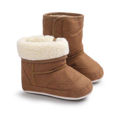 森林寶貝屋~咖啡休閒雪鞋~學步鞋~幼兒...