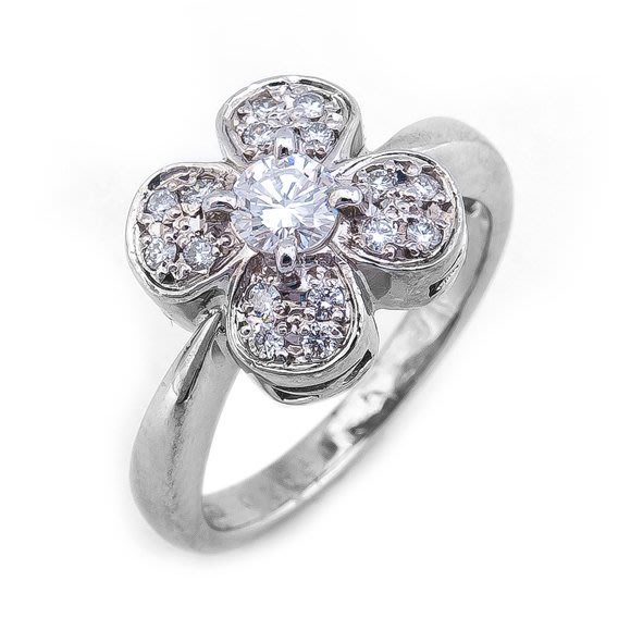 【JHT 金宏總珠寶/GIA鑽石專賣】0.30ct天然鑽石戒指/材質:PT900(D000194)