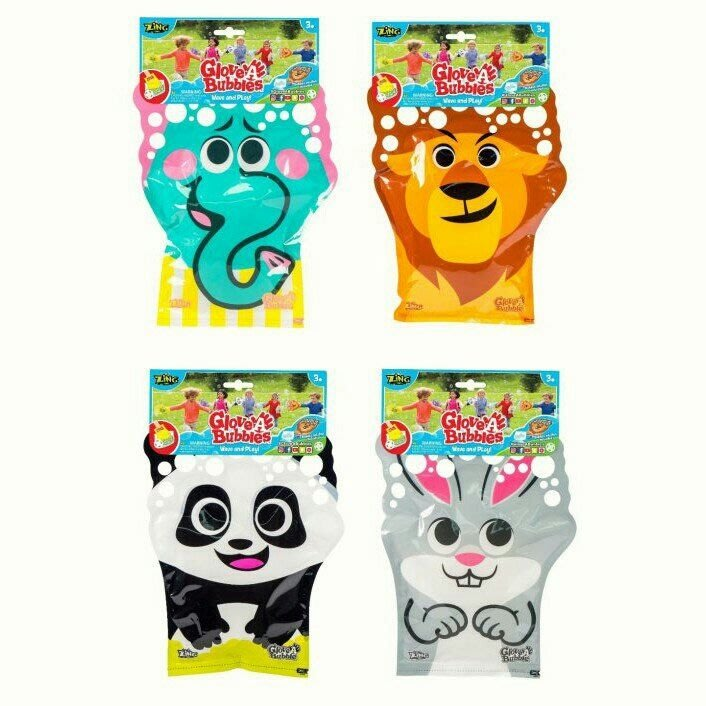 【NEIL玩具王國】正版 Glovea Bubbles 動物泡泡手套(可挑款) 吹泡泡玩具  日本卡通動物泡泡手套