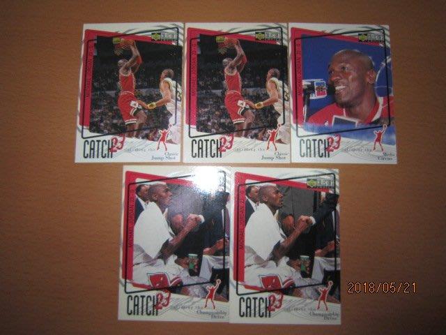 網拍讀賣~Michael Jordan~MJ~喬丹~大帝~96/97~20年歷史~CATCH 23~共5張~400元~