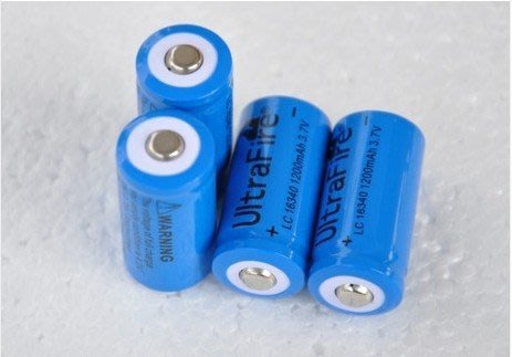 神火 Ultrafire 16340 CR123A 1200mAh 3.6v 3.7v 充電鋰電池廠區價格(無保護板)