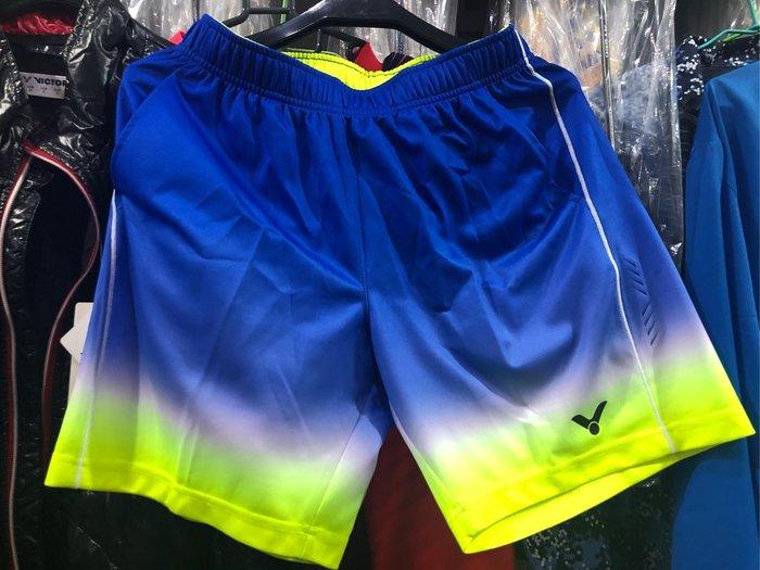 ◇羽球世家◇【褲】VICTOR 勝利馬來西亞 奧運亞軍 巴西選手短褲 排汗衫R-6591  黃色/藍色 限定販售