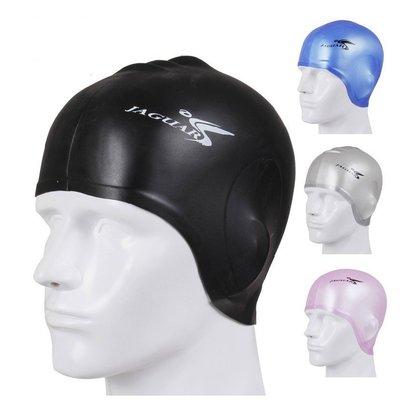 大號護耳高彈力硅膠防水泳帽-成人款-男女通用-現貨或預購SJC