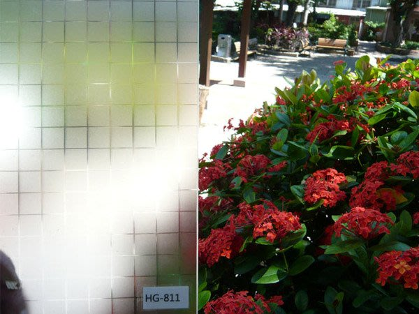(HF居家隔熱紙) 811霧方格 玻璃貼紙 防水窗貼 落地窗 乾溼分離  室內設計 玻璃門櫥窗
