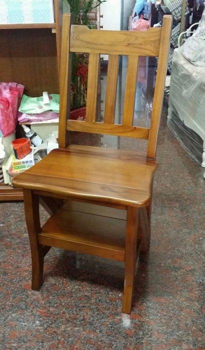 美生活館 --印尼進口 100 % 柚木原木家具--樓梯椅/書椅/餐椅/輔助椅