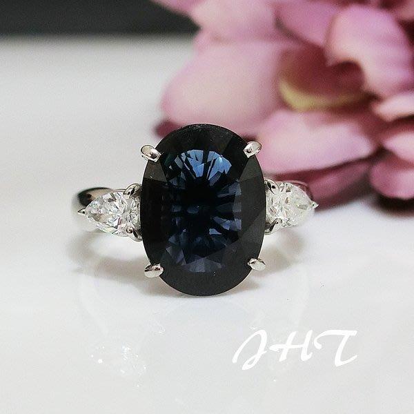 【JHT金宏總珠寶/GIA鑽石專賣】天然藍寶鑽石白金戒指 5.03克拉-附證書 ( JB26-A36 )