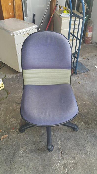 樂居二手家具 全新中古傢俱賣場 CF0525BJJ 藍布面辦公椅*OA椅 電腦椅 洽談椅 書桌椅 辦公家具買賣/OA桌椅