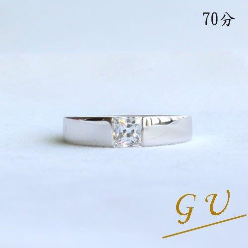 【GU鑽石】A11白金925純銀戒指擬真鑽鋯石戒指摩星鑽擬真鑽 GresUnic Apromiz 70分男戒