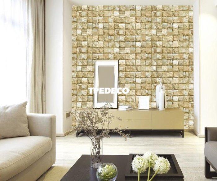【大台北裝潢】AS韓國進口壁紙/壁布* 仿建材 岩石方塊(3色) 每坪750元