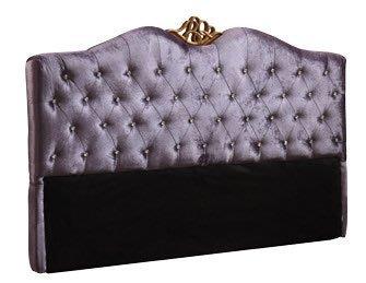 【DH】商品貨號N083-2商品名稱《富豪》5尺雙人紫色絲絨布水鑽雙人床片(圖一)可拆賣台灣製.主要地區免運費