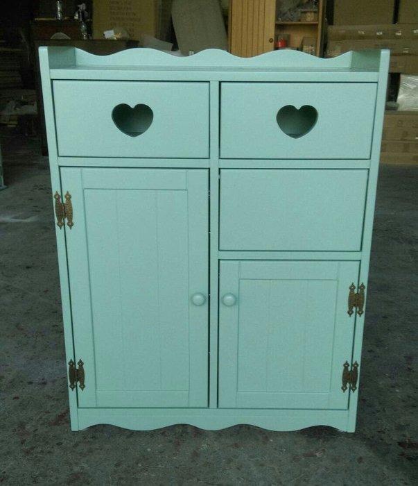 美生活館鄉村家具訂製-- 客訂 蒂芬尼 藍綠色 雙抽 單投入單門收納垃圾桶櫃  鞋櫃垃圾桶兩用收納櫃 功能櫃 玄關櫃