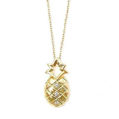 【JHT 金宏總珠寶/GIA鑽石專賣】0.06ct天然鑽石項鍊/材質:18K/(JB38-D28)