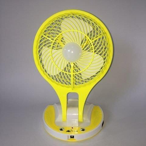 蘆洲(哈電屋) R5580/8吋風扇工作小夜燈21LED可充電/可直接插電式電風扇燈