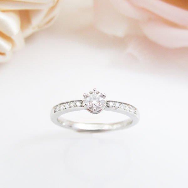 【JHT金宏總珠寶/GIA鑽石專賣】日本4℃天然鑽石線戒 0.206ct(JB22-RB7)*