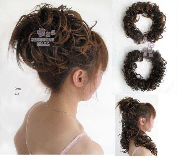 水媚兒假髮DLH67-K 花苞頭多變造型接髮條 現貨或預購