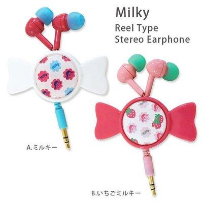 尼德斯Nydus~* 日本正版 不二家娃娃 Peko醬 耳塞式 捲線器收納 糖果造型 iPhone 6S
