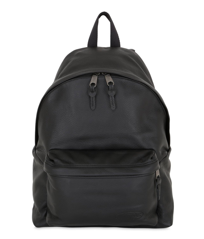 [全新真品代購-SALE!] EASTPAK 黑色小牛皮 後背包 (PAK'R)
