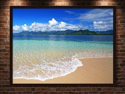 現代裝飾畫陽光沙灘馬爾代夫毛里求斯大幅...