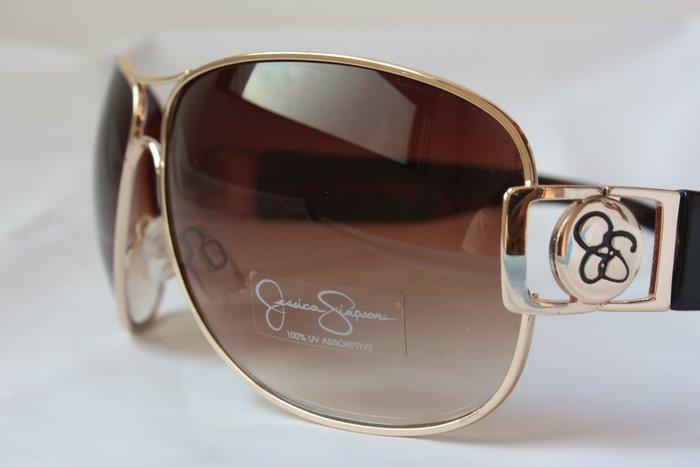 【Jessica Simpson 美國品牌】全新正品 時尚 復古 太陽眼鏡 墨鏡- 漸成茶色【大鏡面】*JSS05W*