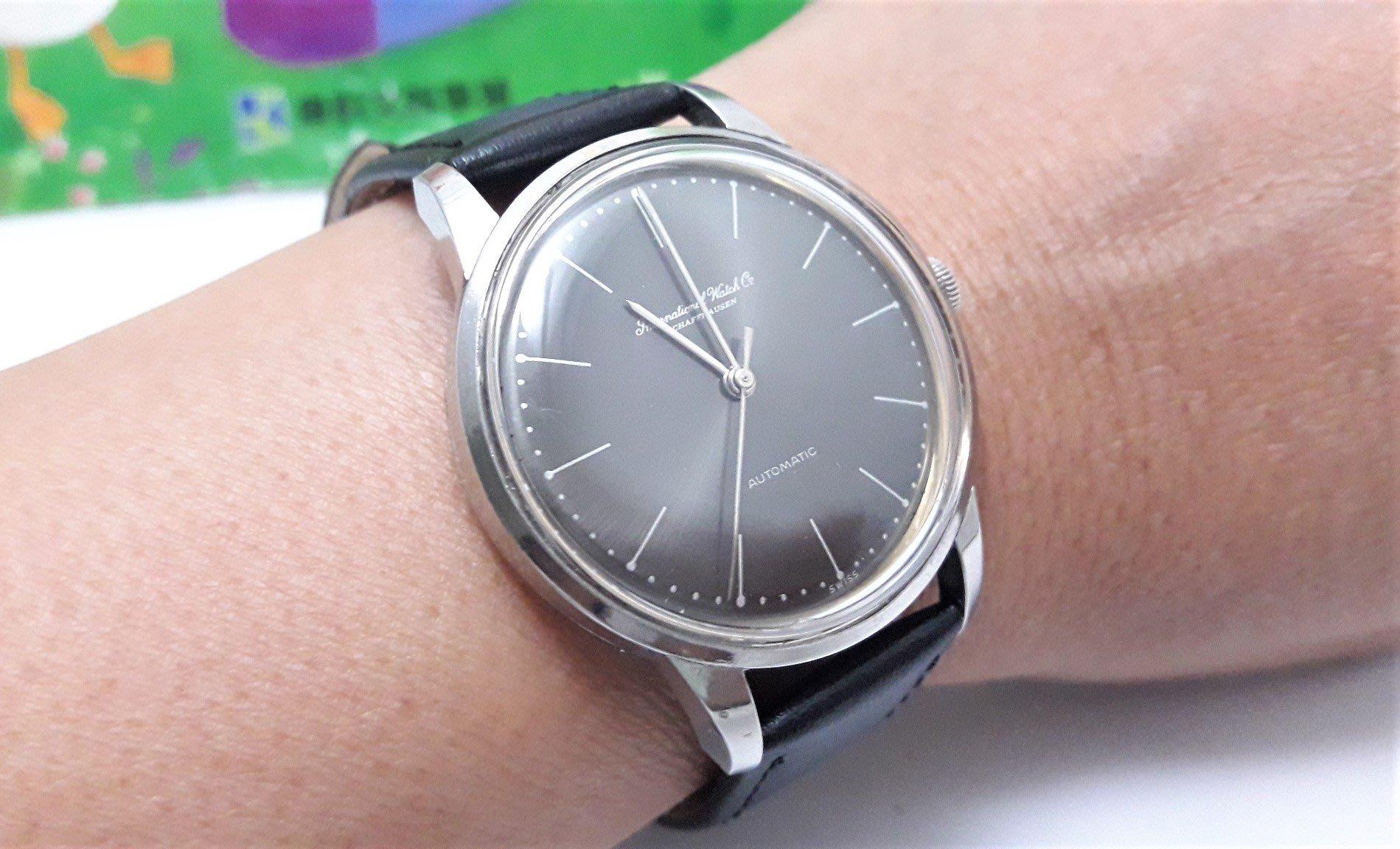 瑞士原裝萬國錶IWC,不繡鋼自動上鍊男錶