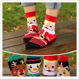 晶華屋--韓版可愛聖誕造型短襪 /聖誕襪/成人襪/ 少女襪 (四款)