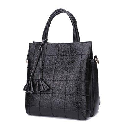 手提 包 真皮 肩背 包-歐美時尚格紋純色女包包6色73se34[獨家進口][米蘭精品]