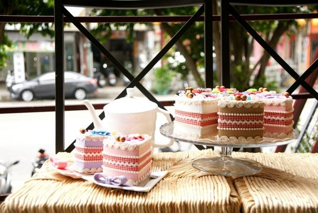 2個生日切片蛋糕幼兒樂齡批發DIY材料包不織布蛋糕美勞手工藝文創客製化手創意市集教學師資創業大實踐okdiy