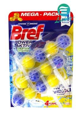 【易油網】Bref 德國 馬桶強力清潔芳香球 3入 (檸檬香) #53371【缺貨】