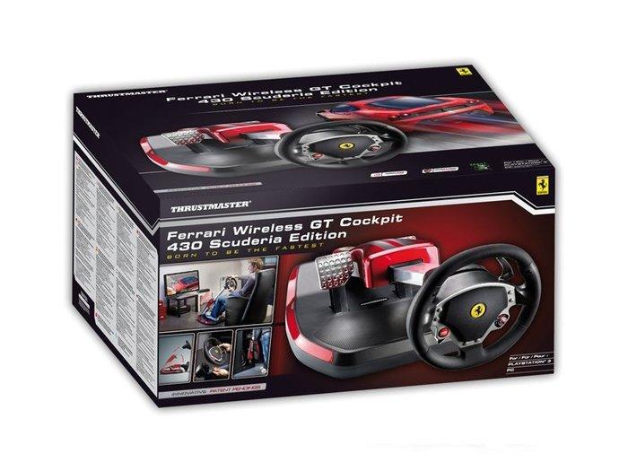 【JP.com】Thrustmaster Ferrari Wireless F430 電玩方向盤踏板組 PS3 PC