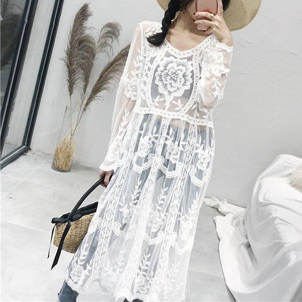 韓系 長版蕾絲洋裝  連身裙  上衣 G0390~娜塔莉公主~