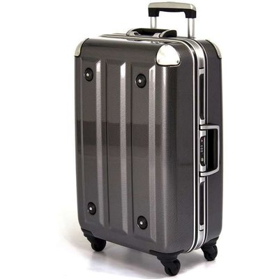 【aaronation】18吋-MOM日本品牌 PC鋁框行李箱(RU-3008-18-黑) 賣場1